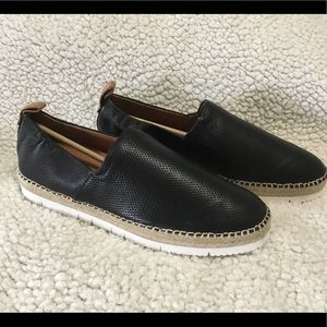 Gentle Souls Leather Espadrille Slip Ons
